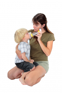 calming asthmatic child