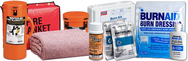 Burn Care When a burn occurs, seconds count. we carry numerous products that are effective, versatile and approved for emergency first aid burn treatment in a pre-hospital setting. They stop the burn progression, cool the burned area, relieve pain and prevent further injury.