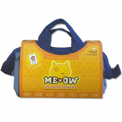 FuCa Kitty's Favorite! Includes essentials for cuts, bites, ears, scratches and much more. This essential first aid kit for cats, Me Ow™, was created at the request of Veterinarians across the country. Intended for those individuals who want the necessary emergency stabilization first aid tools to handle emergency situations. The rugged, water resistant box is perfect for the home, field, and automobile. Be prepared, your pet is counting on you. Veterinarian approved. There are few things pet owners love more than their dog or cat. When a pet is hurt, its owner needs to help. Me Ow™ First Aid Kit For Cats helps people deal with minor injuries or stabilize a cat on the way to the vet for treatment.