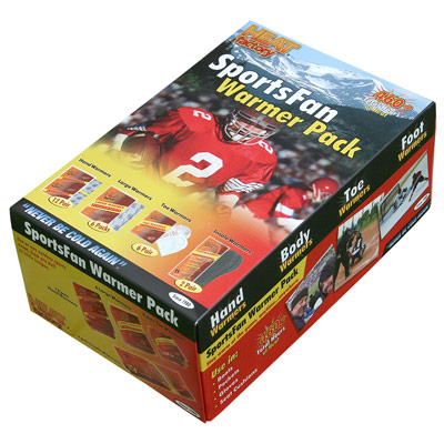 Sports Fan Warmer Pack Stay warm at the game, anytime…anywhere. The SportsFan Warmer Pack is ideal for any die-hard fan