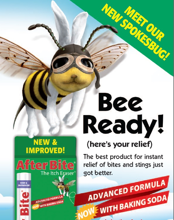 Be Prepared With The Itch Eraser Get instant, soothing relief from insect bites or stings with After Bite®, now made with baking soda, Grandma's home remedy. CLICK THE BEE TO VIEW