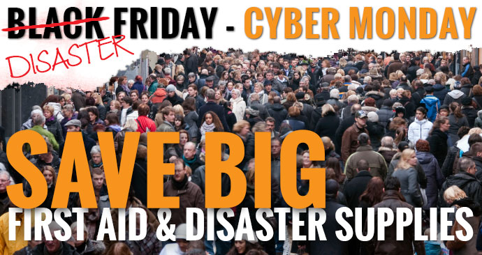 SHOPPING IN PUBLIC ON BLACK FRIDAY CAN BE A DISASTER! SAVE BIG and be safe with our Safety Gift Ideas and Stocking Stuffers at 50% up to 90% off! Our Black Disaster Friday-Cyber Monday Sale begins now so… Shop early as we have very limited quantities on many of these uber-low blowout deals!