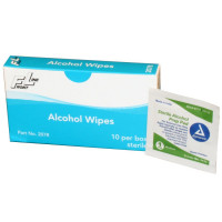 Alcohol Wipes - 10 Per Box - 2078