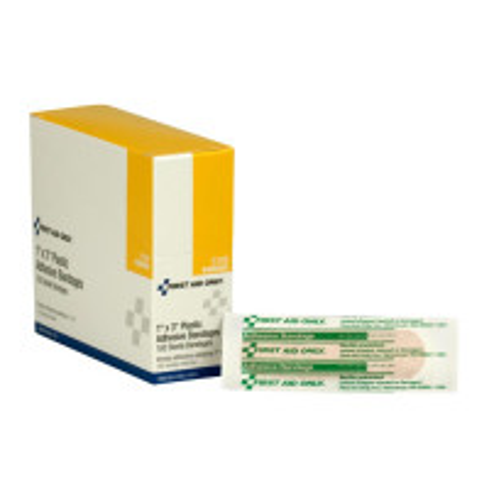 Adhesive Bandage, Plastic 1 x 3 inch - 100 Per Box - G106