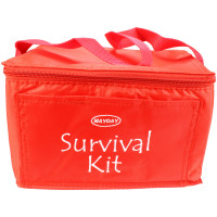 Red Vinyl Cooler Bag w/ Imprint - ST22A