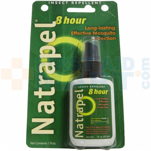 Natrapel Brand 8-hour Picaridin (non-DEET) Mosquito & Insect Repellent - 1oz Pump Spray with cap