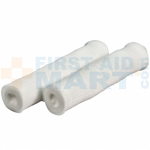 "6"" x 4 yards (stretched) conforming gauze rolls are ideal for securing dressings over large dressings and on larger body parts such as legs or abdomen"