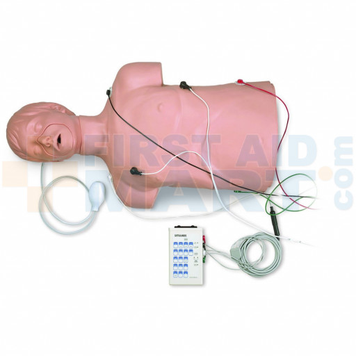 Defibrillation / CPR Training Manikin by Simulaids w/ Carry Bag - 100