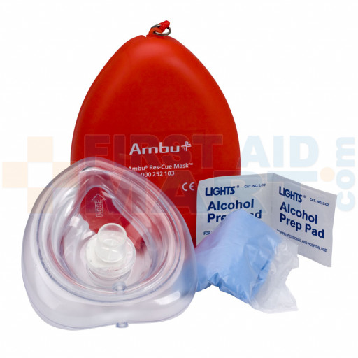 Ambu Res-Cue CPR Mask Kit, Plastic Case - 113140
