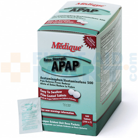 Extra Strength APAP, 100/box, 17533