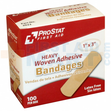 "Heavy Woven 1"" x 3"" Bandage, 100/BX - 2022"