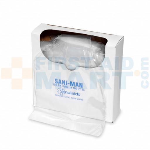 Sani-Man Face Shield Lung System - 100 Per Pack - 2135