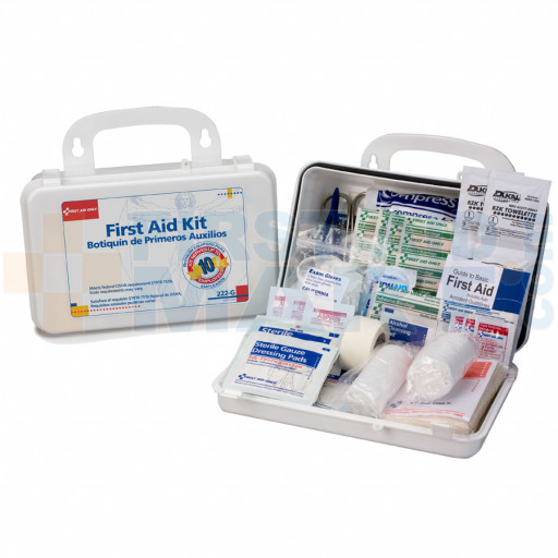 10 Person Bulk First Aid Kit w/ Dividers - 222-U