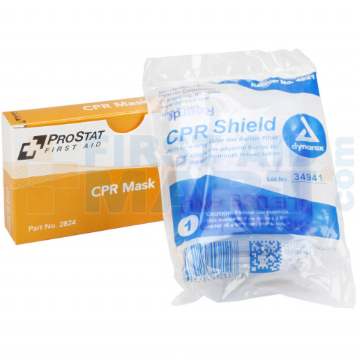 CPR Mask, One way valve, 1 per box, 2824