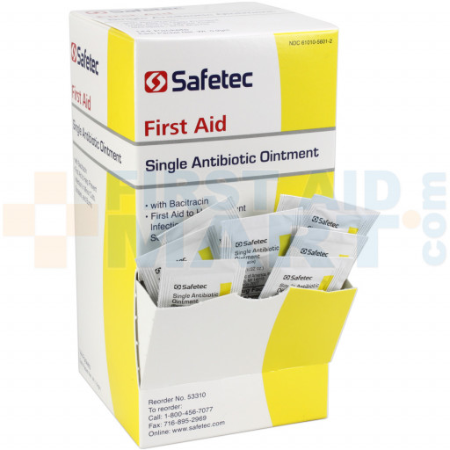 Single Antibiotic (Bacitracin) .9gm. Pouch, 144 per box, 53310