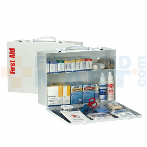 2 Shelf First Aid ANSI A+ Metal Cabinet, with Meds - 90572