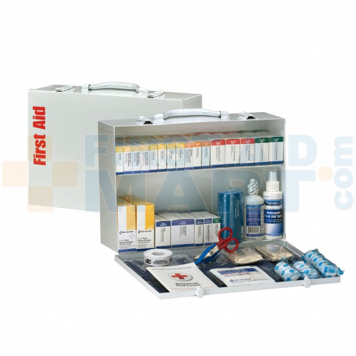 2 Shelf First Aid ANSI B+ Metal Cabinet - 90603