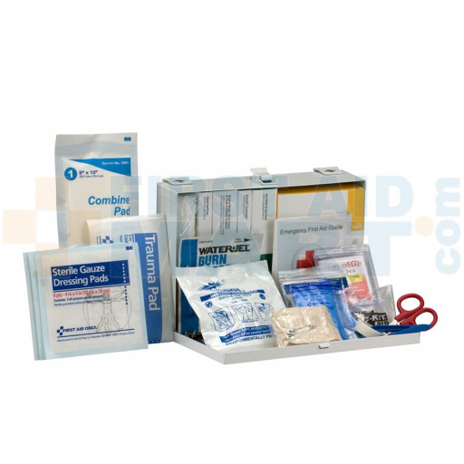 25 Person Contractor ANSI A+ First Aid Kit, Metal Case  - 90670