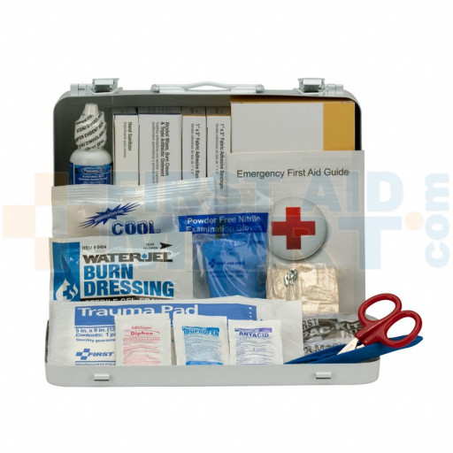 25 Person Vehicle ANSI A+ First Aid Kit, Metal Case - 90672