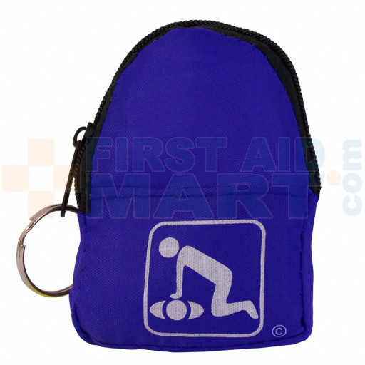 CPR Blue BeltLoop/KeyChain BackPack - 911CPR-BLK