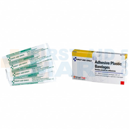Adhesive Bandage - Plastic - 3/4 inch - 16 per box - A100