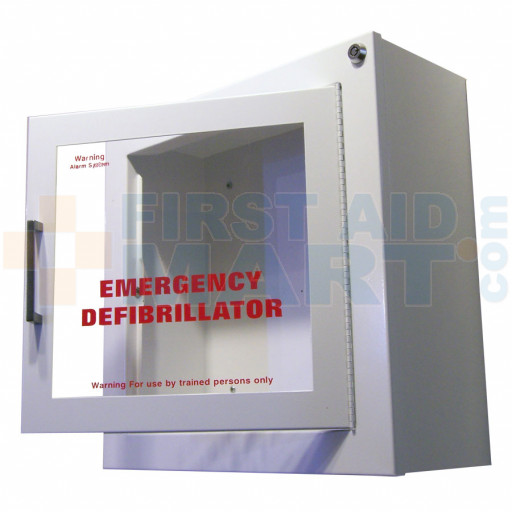 Automated External Defibrillator Wall Cabinet - Surface mount with Alarm - AEDCab