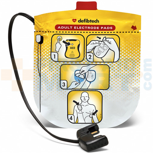 Adult Electrodes for Defibtech Lifeline View Automated External Defibrillator - DDP-2001