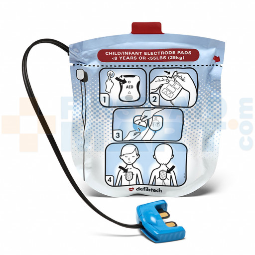 Pediatric Electrodes for Defibtech Lifeline View Automated External Defibrillator - DDP-2002