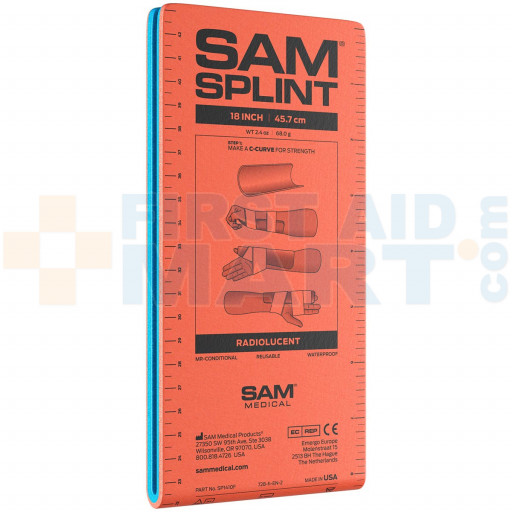 18 inch Junior Sam Splint Flatfold, Reusable, 1 Each - FA/GG18