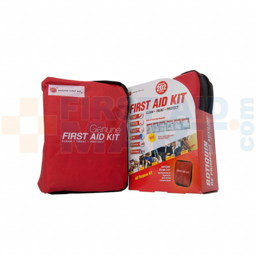 Genuine First Aid Kit Model 202 Red - 202 pieces - FA-R202