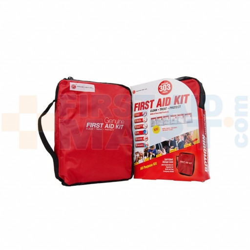 Genuine First Aid Kit Model 303 Red - 303 pieces - FA-R303