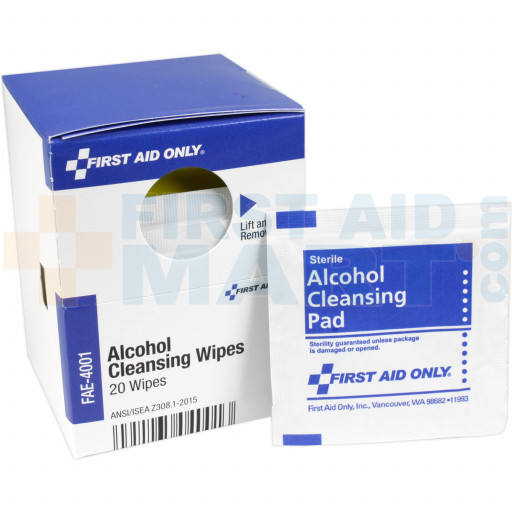 Alcohol Cleansing Wipes, 20 Each - SmartTab EzRefill - FAE-4001