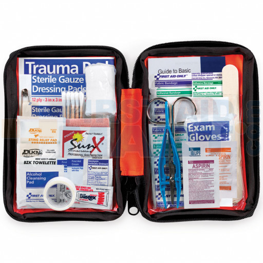 Outdoor First Aid Kit, soft bag, 107 Pieces - Small - FAO-420