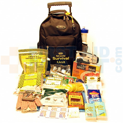 Roll and Go Survival Kit on Wheels - One Person - KT-WH1