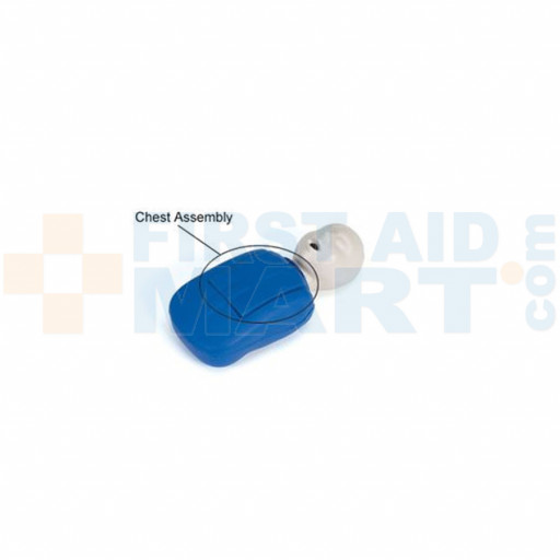 CPR Prompt Coated Infant / Baby Chest Assembly - Blue - LF06922U