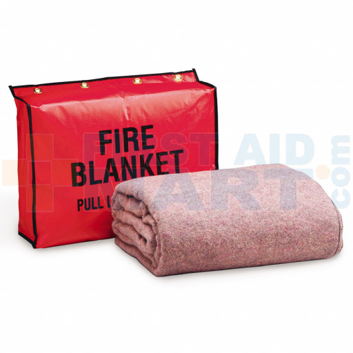Fire Retardant Blanket w/ Vinyl Bag - M4053