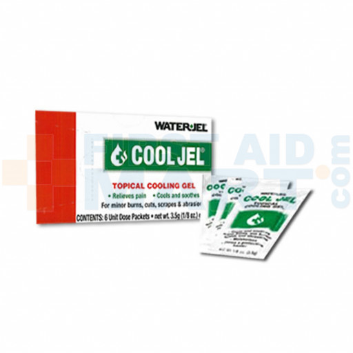 Water Jel Cool Jel Burn Relief - 3.5 gram - 6 Per Box - M495