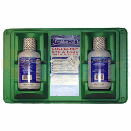 Double Eye Wash Station w/ TWO 16 ounce Plastic Bottles - M7012/ALT
