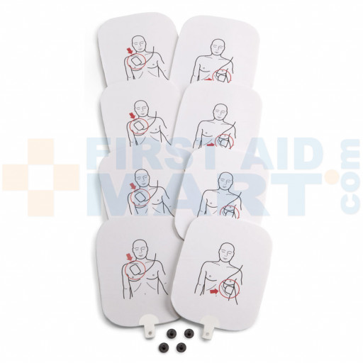 Prestan Professional Automated External Defibrillator Trainer Pads, 4 Pack - PP-APAD-4