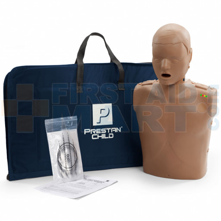 Prestan Child / Pediatric CPR Manikin w/ Monitor - Dark Skin - PP-CM-100M-DS