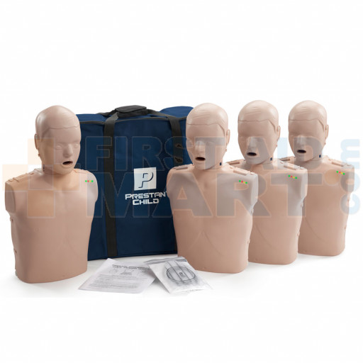 Prestan Child / Pediatric CPR Manikin w/ Monitor - 4 Pack - Medium Skin - PP-CM-400M-MS