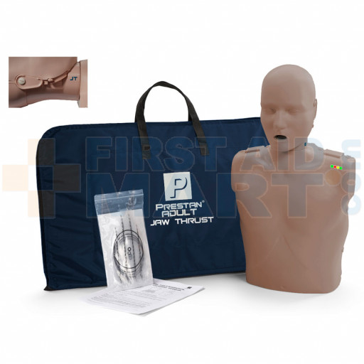 Prestan Adult Jaw Thrust CPR Manikin w/ Monitor - Dark Skin - PP-JTM-100M-DS
