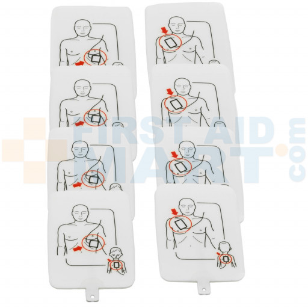 Prestan Professional AED UltraTrainer Pads, 4 Pack, PP-UTPAD-4