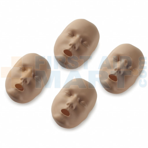 Replacement Faces for Prestan Adult Manikins - 4 Pack - Dark Skin - RPP-AFACE-4-DS