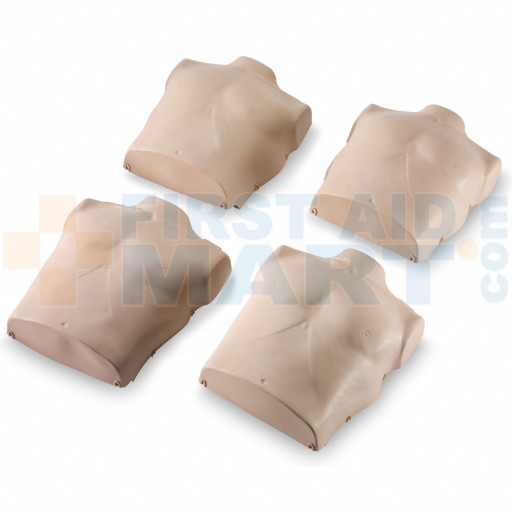 Torso Replacements for Prestan Adult Manikins - 4 Pack - Medium Skin - RPP-ASKIN-4-MS