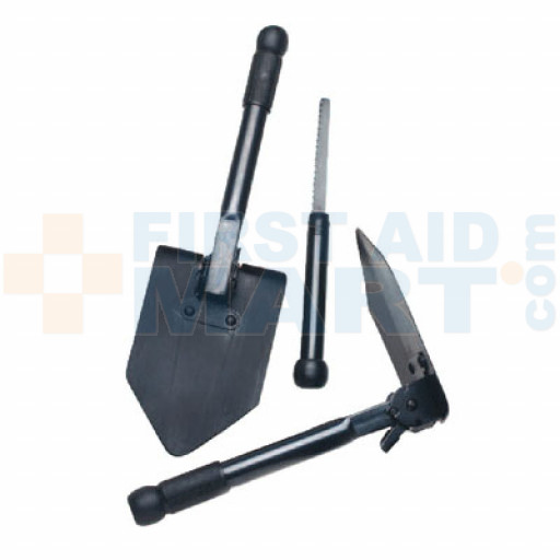 Folding Survival Shovel with Saw - T003B