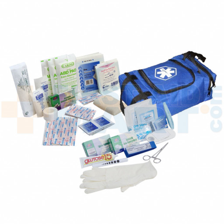 First Responder Kit / Jump Bag - 80 Pieces - Blue - URG-636841BLK