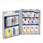 Compartments are clearly labeled to keep supplies organized, easy to find & easy to restock.