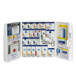 OSHA SmartCompliance Restaurant & Food Industry first aid cabinet without oral medications / with extra wound care items, Large