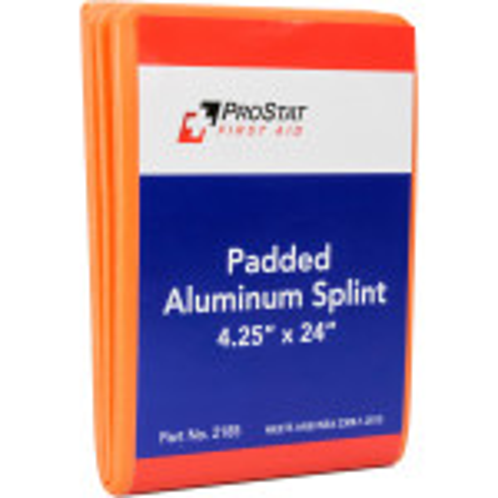 "Padded Aluminum Foam Splint, 4.25"" x 24"", Reusable, 1 Each, 2185"